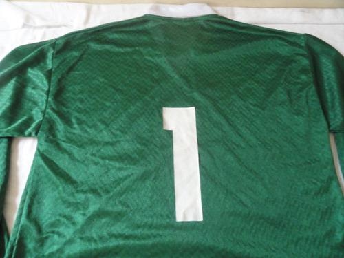 camisa verde palmeiras manga longa n.1.veste tam g.como nova
