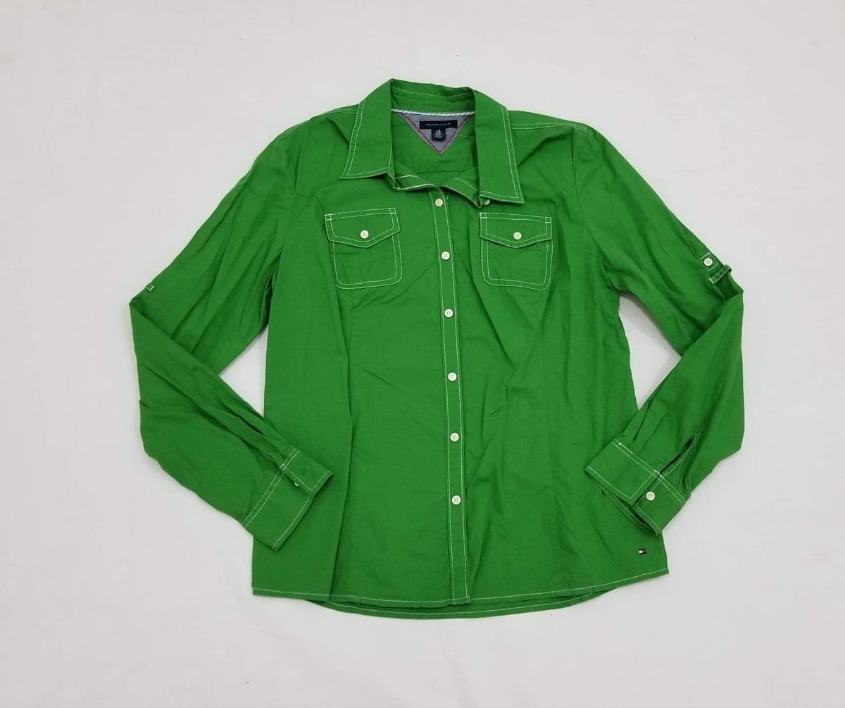 2841e3994 Camisa Verde Tommy Hilfiger