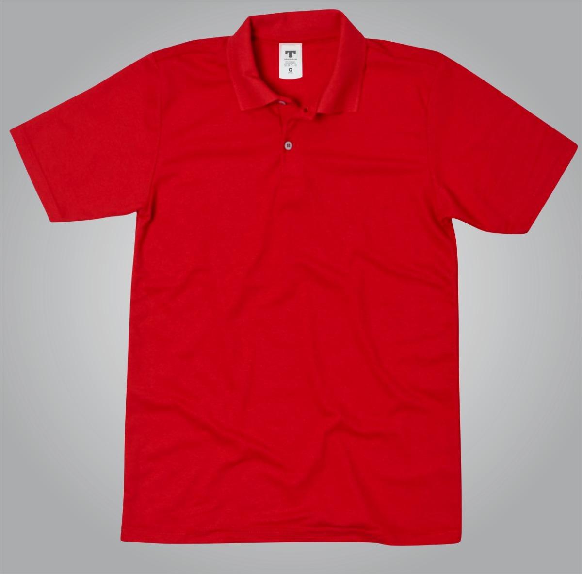 5e718e45a0 Camisa Vermelha Camisa Polo Vermelho Camiseta Blusa Polo - R  44