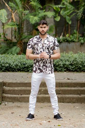 camisa verão tucanos preta com branco carnaval