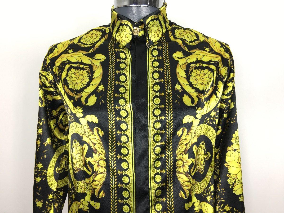 ... gianni versace camisa de seda. Cargando zoom. b7788583c28