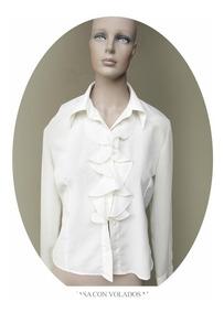 Blusa Mujer Americana Camisita De Camisa Vestir Blanca Feria 76yIgYmbfv