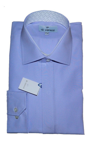 camisa vestir divarezzi lisa cartera oculta lila corvata