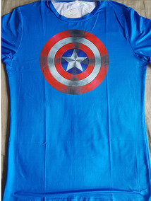 078f8a32b7 Camiseta Slim Fit Capitao America Camisetas - Camisetas e Blusas no ...