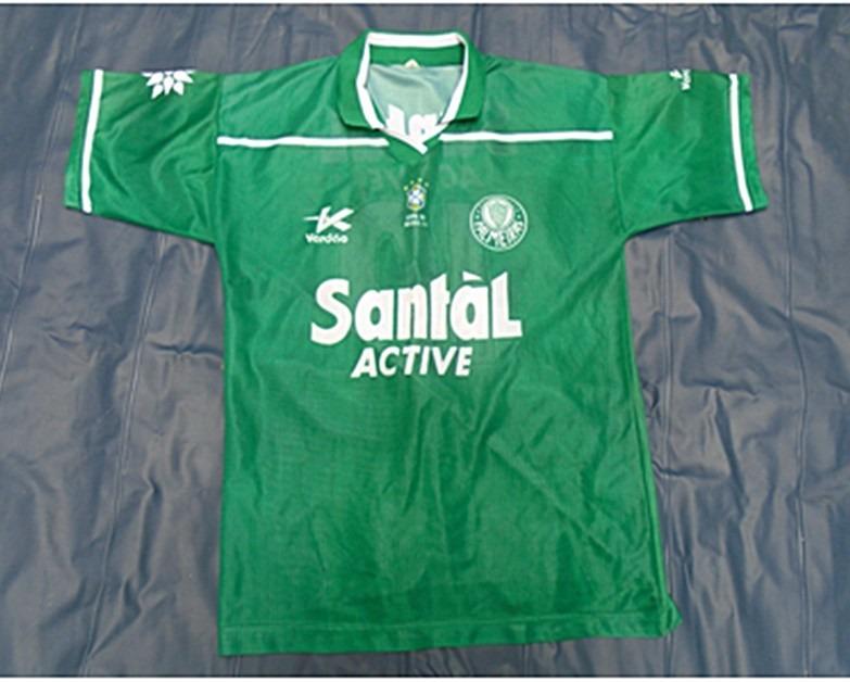 c1eb68a830 Camisa Vintage Palmeiras Santal 1999 Copa Do Brasil 98 - R  119