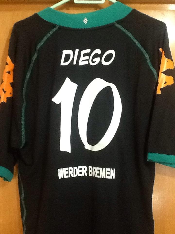camisa werder bremen uniforme 3 2008 09 g 10-diego flamengo. Carregando zoom . 894df9a71a79d
