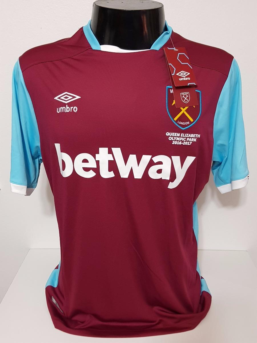 48eee7e0db97b Camisa West Ham Home 16-17 Ayew 10 Patch Premier League - R  150