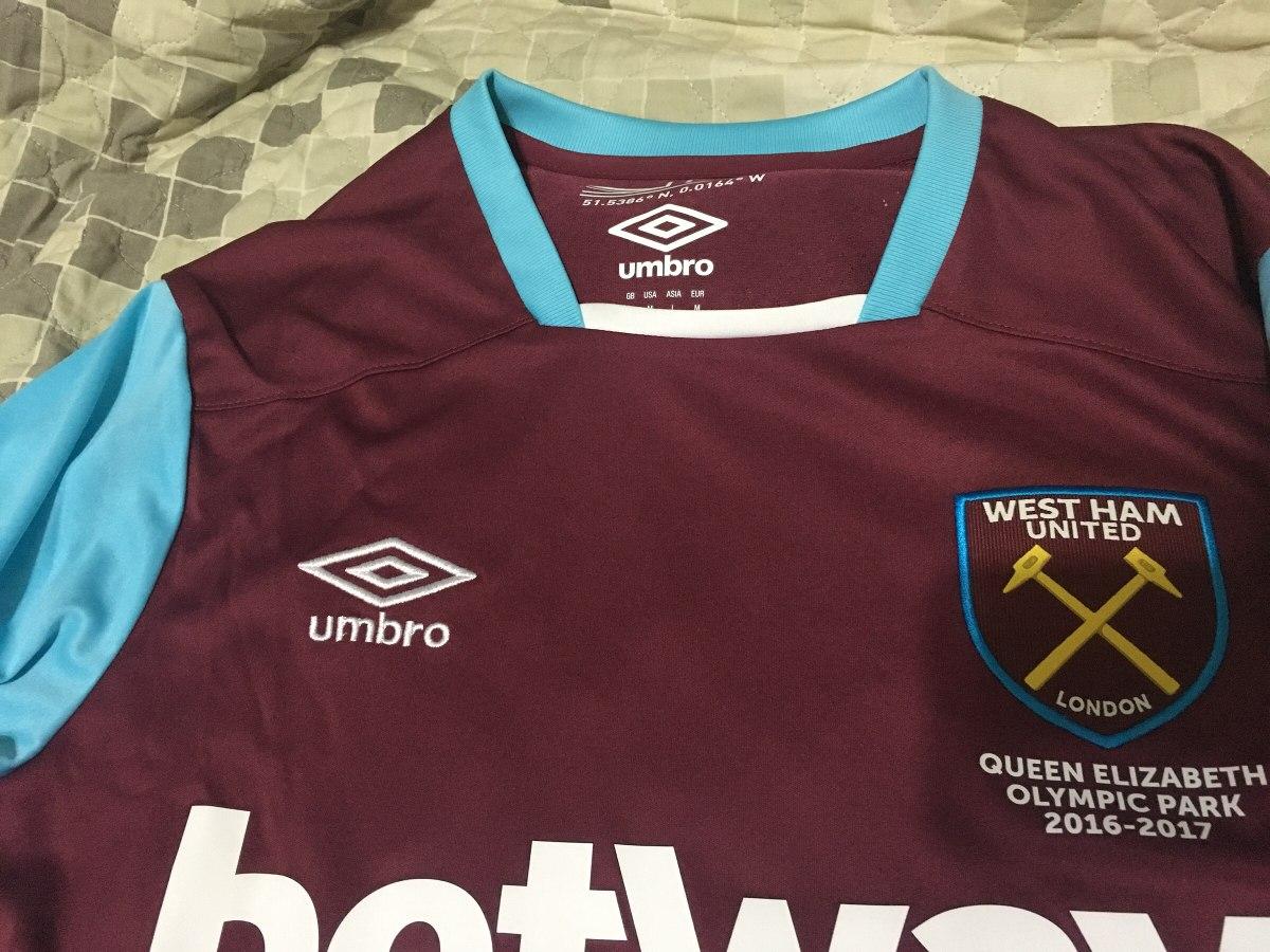 7f9eb32600 Camisa West Ham Home 2017 Umbro Oficial Inglaterra M - R$ 200,00 em ...