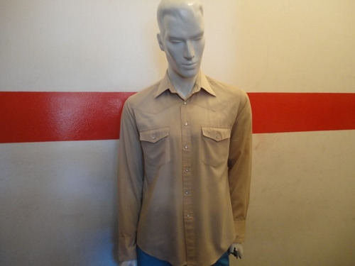 camisa western  con broches retro vintage made in korea