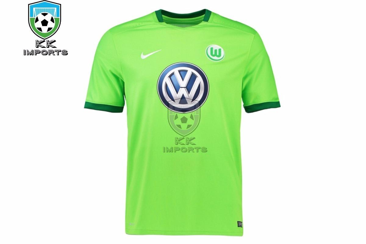 Camisa Wolfsburg 2017 2018 Uniforme 2 Sob Encomenda - R  170 be342a188cdd5