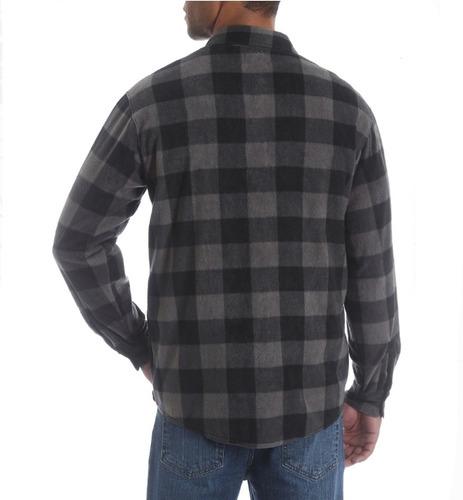 camisa wrangler hombre en fleece tipo leñadora-envio gratis