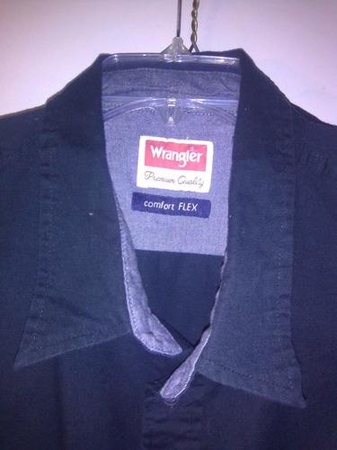 camisa wrangler nueva, original talla 2xl manga corta, negra