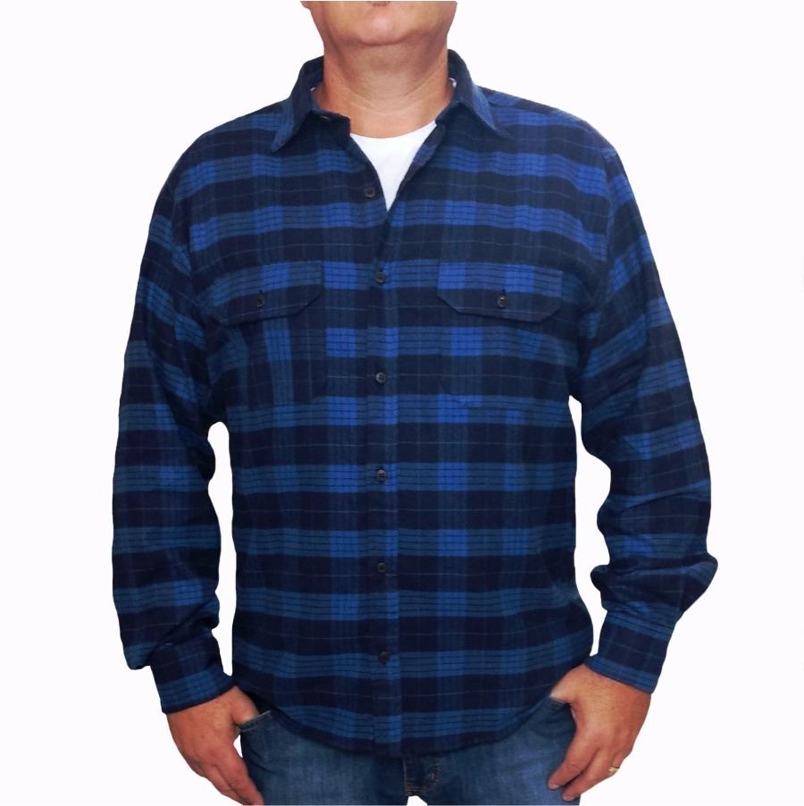 44206bbff0 camisa xadrez azul. Carregando zoom.