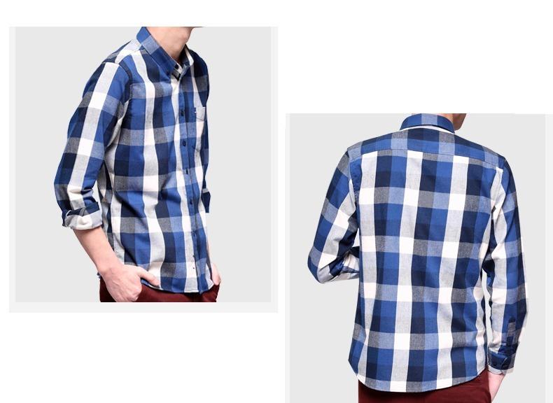 0008af536d Camisa Xadrez Azul Escuro E Claro - Tamanho P - Dosponível - R  49 ...