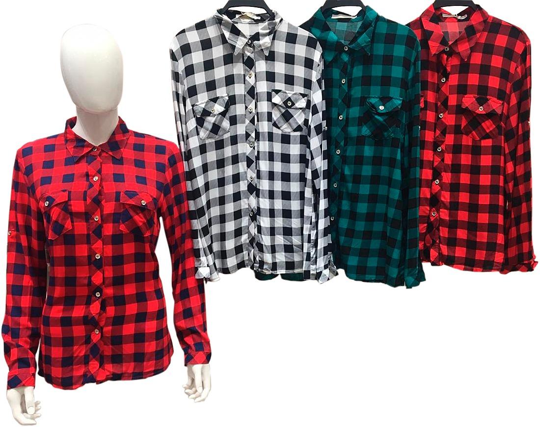 3b20f09dc3 camisa xadrez blusa feminina promocao atacado camisete moda. Carregando  zoom.