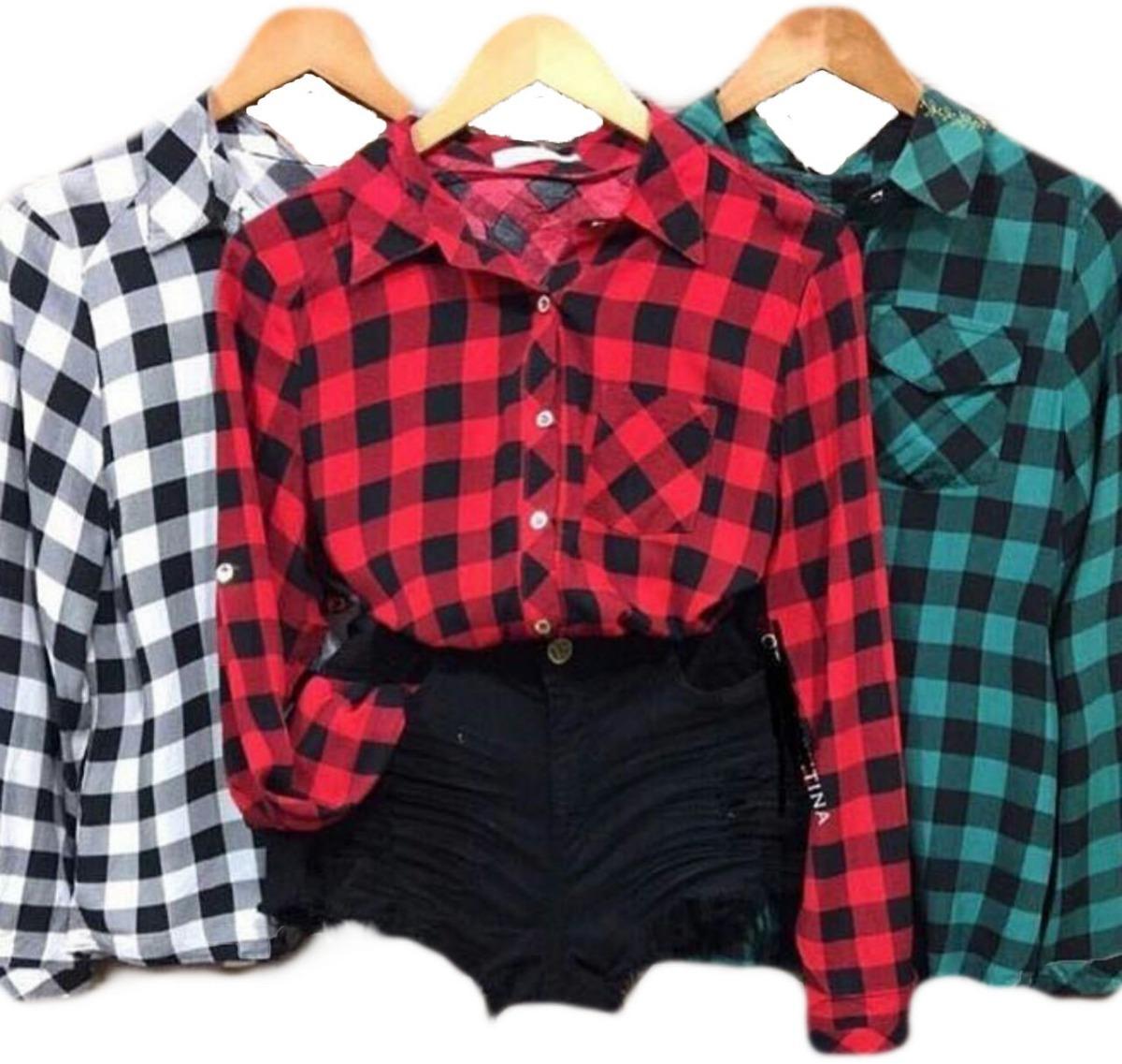 4cf55aab13 camisa xadrez blusa feminina promoção atacado camisete. Carregando zoom.