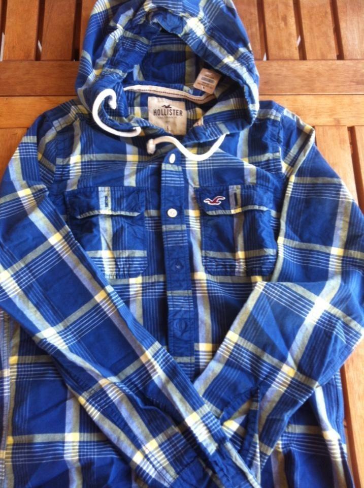9361da5f56 camisa hollister xadrez com capuz