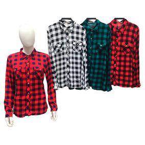3cb108cc9d Camisa Xadrez Feminina - Camisa Casual Manga Longa Feminino no ...
