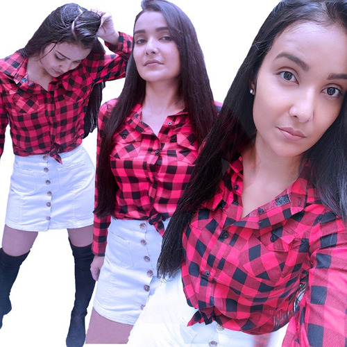 camisa xadrez feminina - blusa - cores