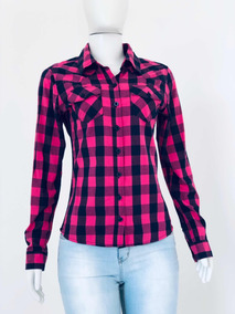 d52599844 Camisa Xadrez Feminina Tam P Rosa 100% Algodão Bluesteel