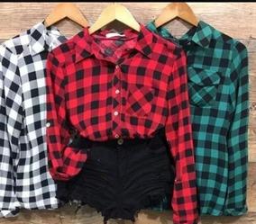 110c6bbe52 Camisa Xadrez Feminina Tumblr - Calçados
