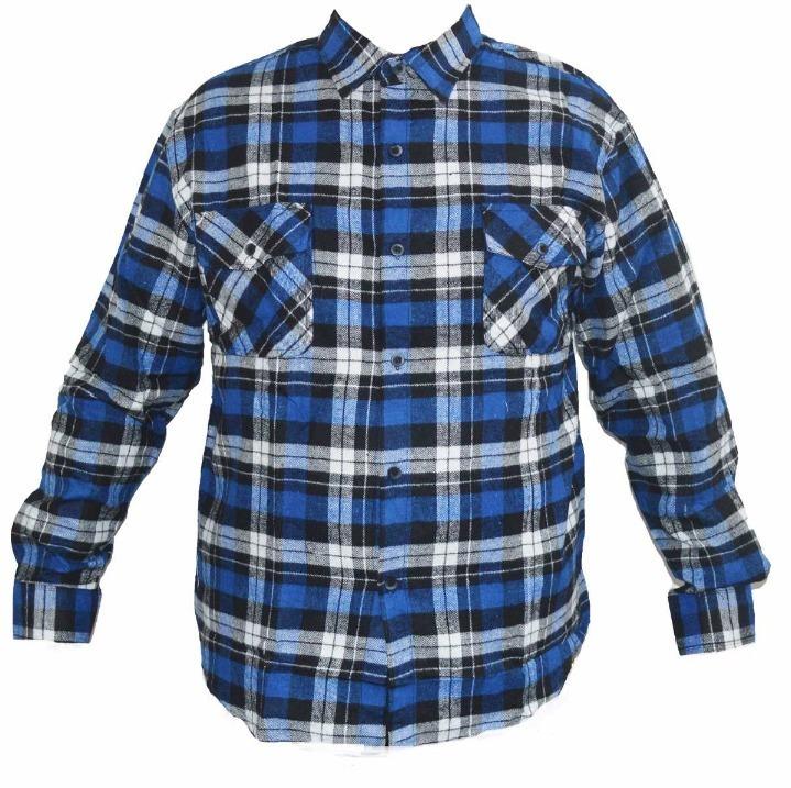 55267a18c Camisa Xadrez Flanelada Masculina Azul Preta Vermelha Cinza - R$ 88 ...