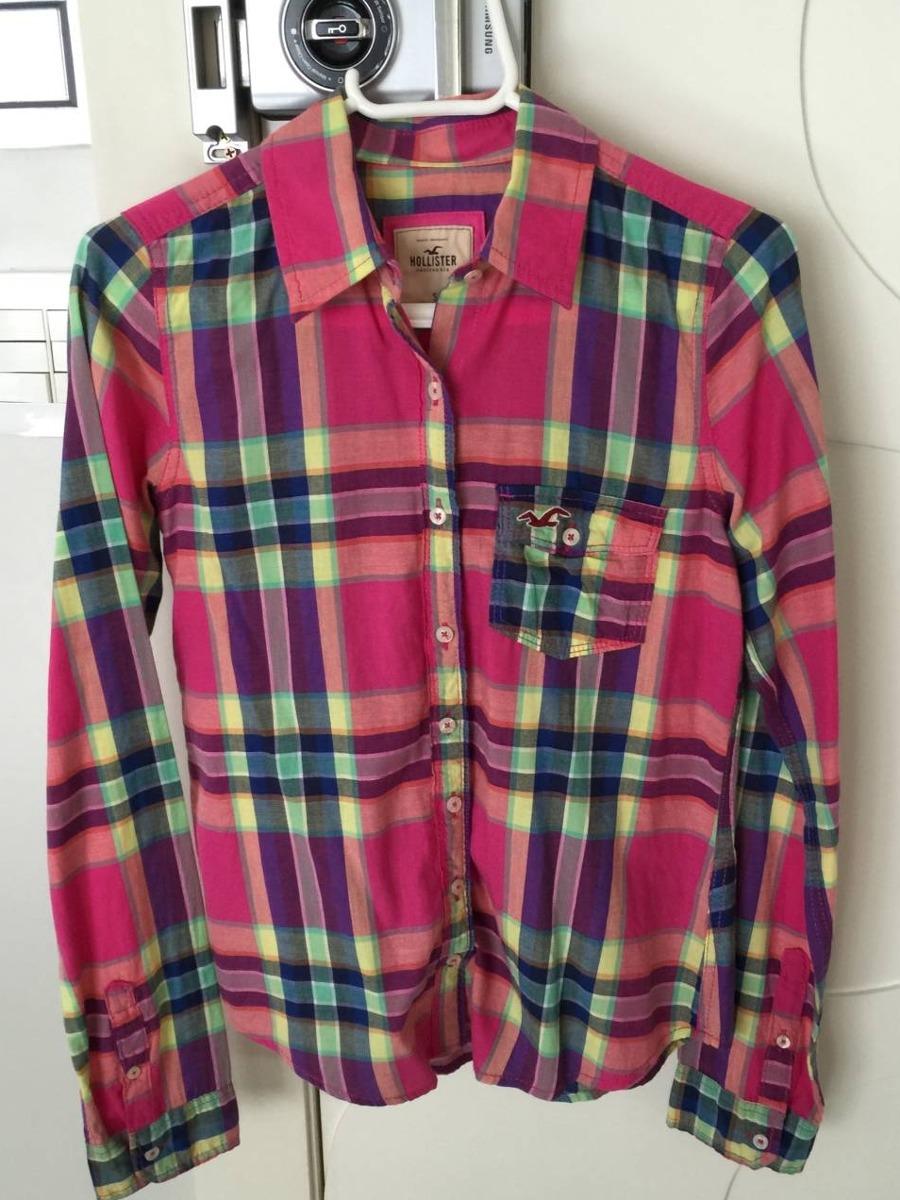 camisa xadrez hollister feminina. Carregando zoom. a75de38888901