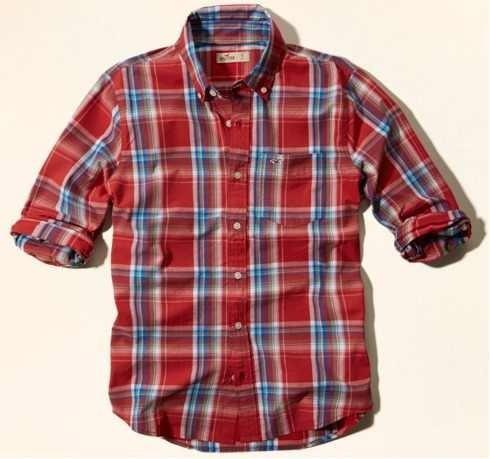 64a3a98f0d Camisa Xadrez Hollister Masculina Original - R  185