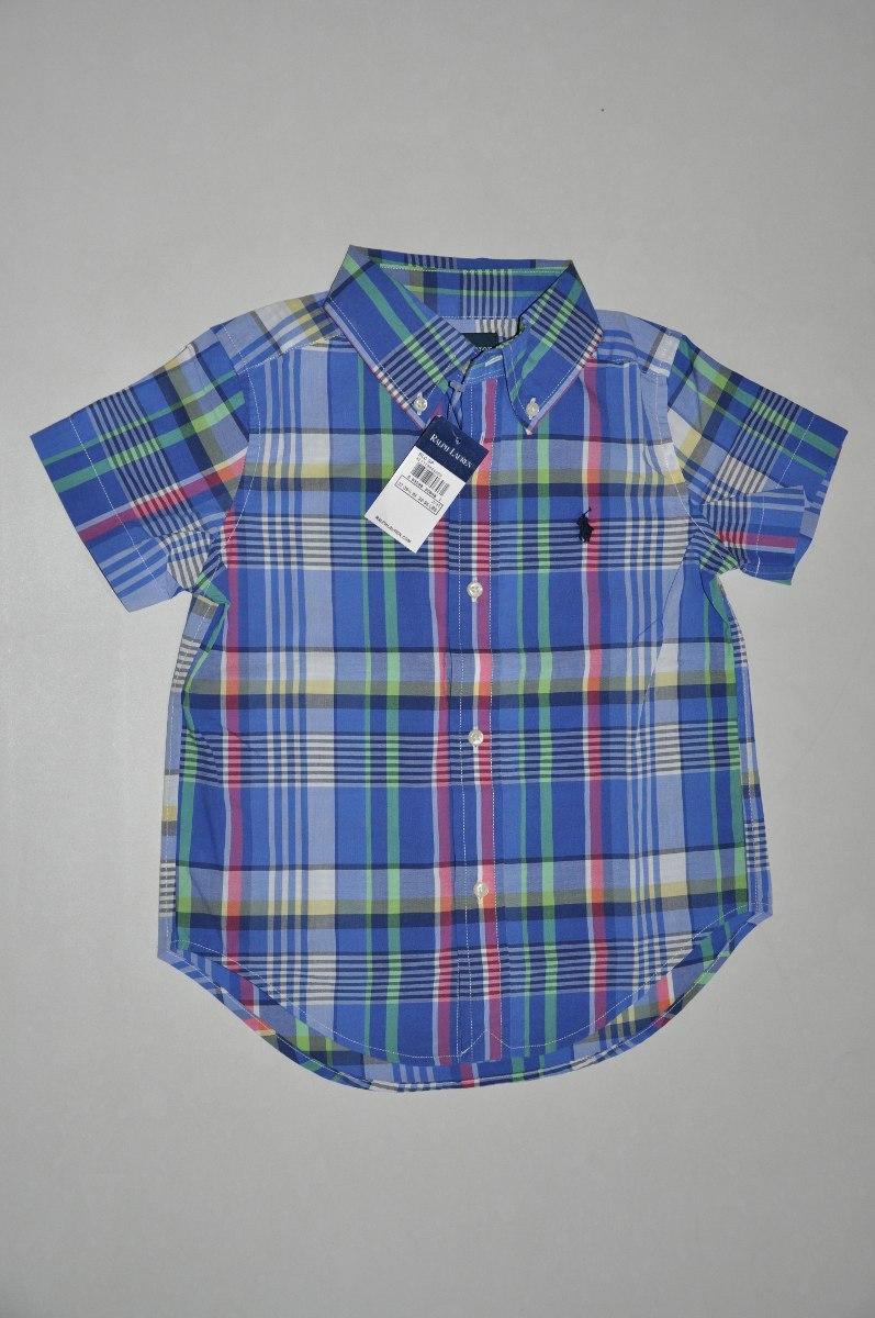 f0a6bfbf8accb camisa xadrez infantil manga curta polo ralph lauren origina. Carregando  zoom.