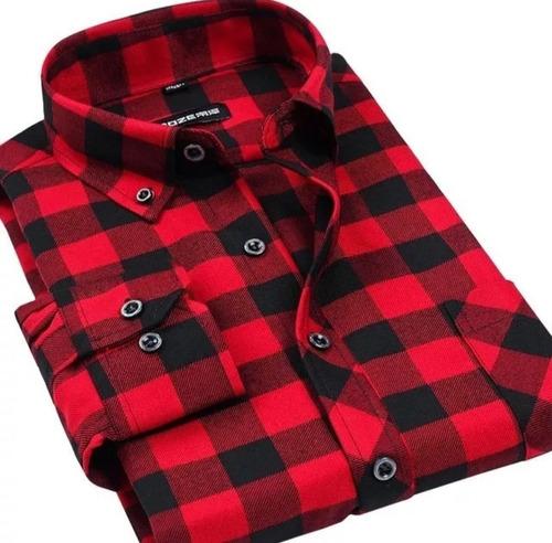 camisa xadrez masculina flanelada manga longa melhor preço