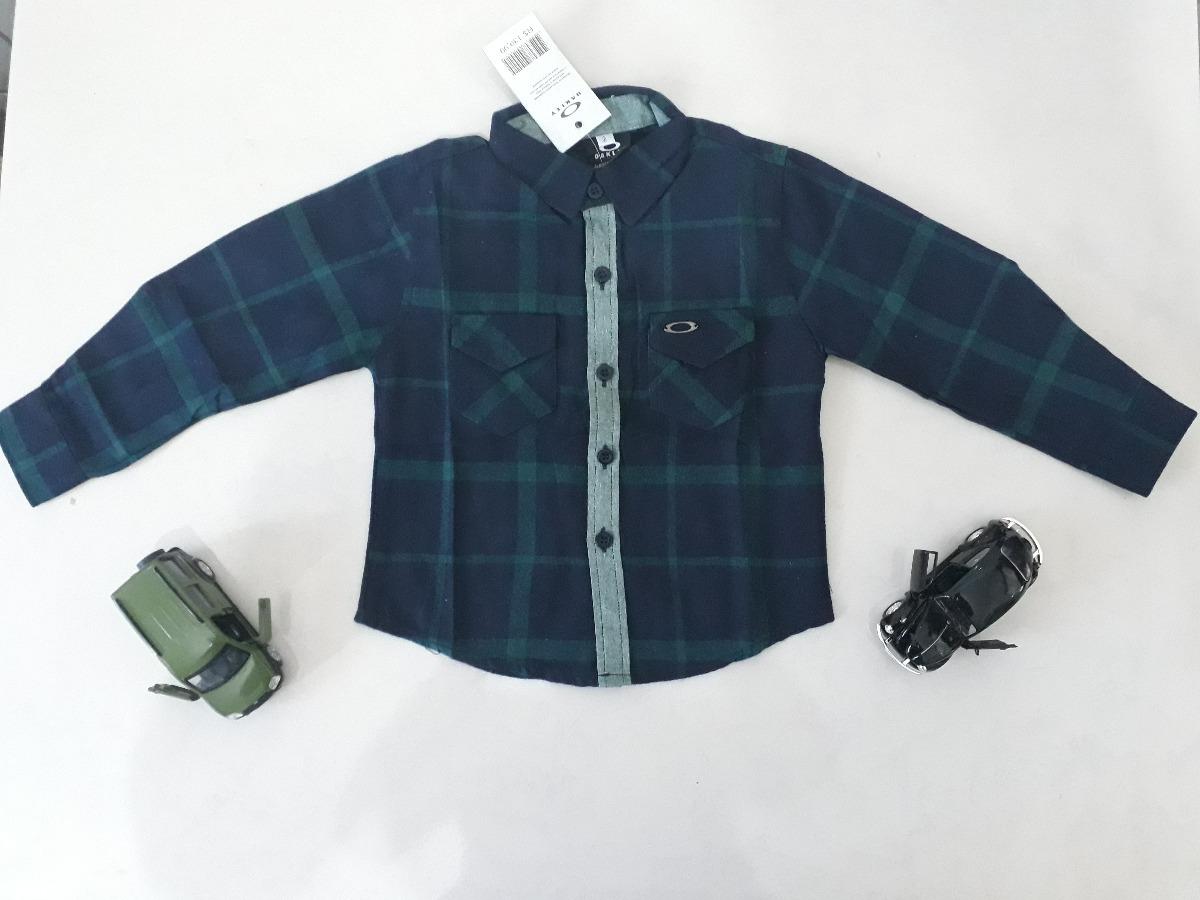 Camisa Xadrez Oakley Infantil - Festa Junina E Julina-azul - R  109 ... ed5a95450891a