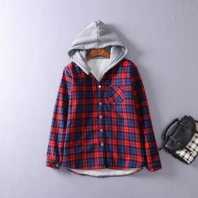 7764ab57e2e Camisa Xadrez Capuz Feminina - Calçados, Roupas e Bolsas com o Melhores  Preços no Mercado Livre Brasil