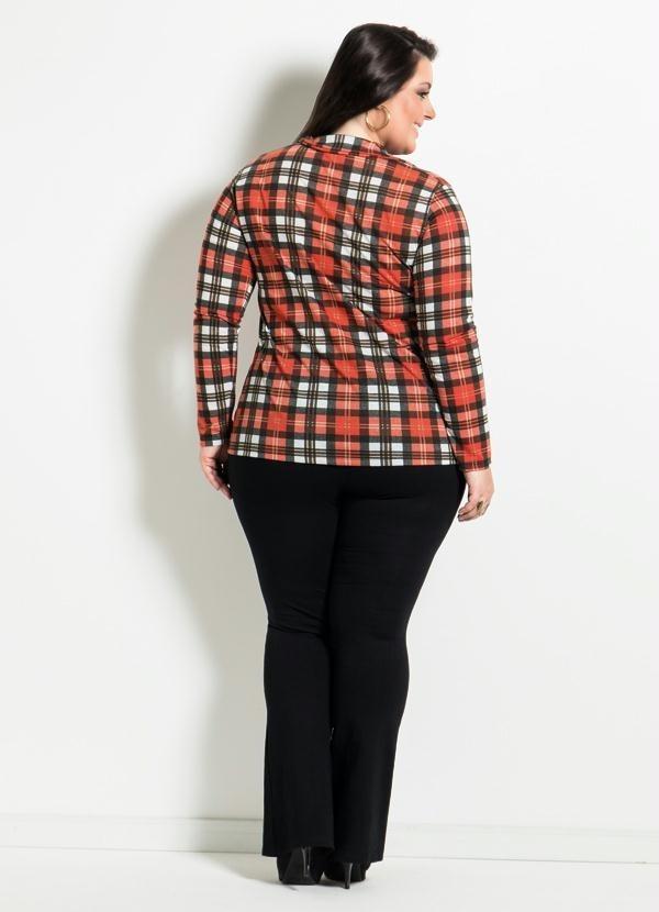 0903fe3e97 camisa xadrez plus size moda feminina lançamento promoção. Carregando zoom.
