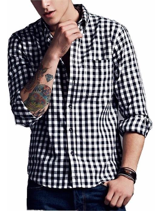 2b0cb8487 Camisa Xadrez Slim Fit Masculina Algodão A Pronta Entrega - R$ 79,90 ...