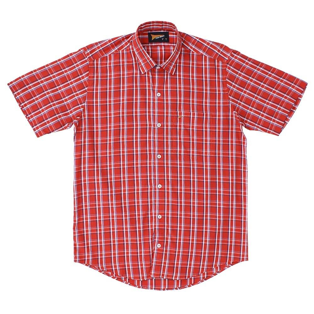 camisa xadrez vermelha masculina fast back manga curta 20396. Carregando  zoom. b4bd63b18b24c