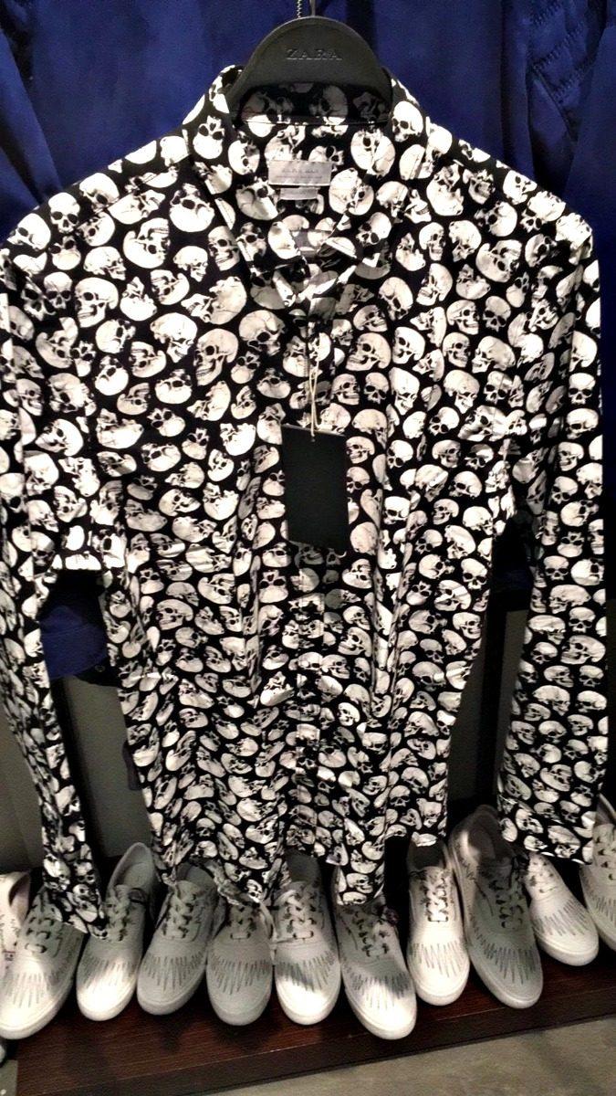 Hombre Original Camisa Nueva Calavera Zara rxEQWCdeBo
