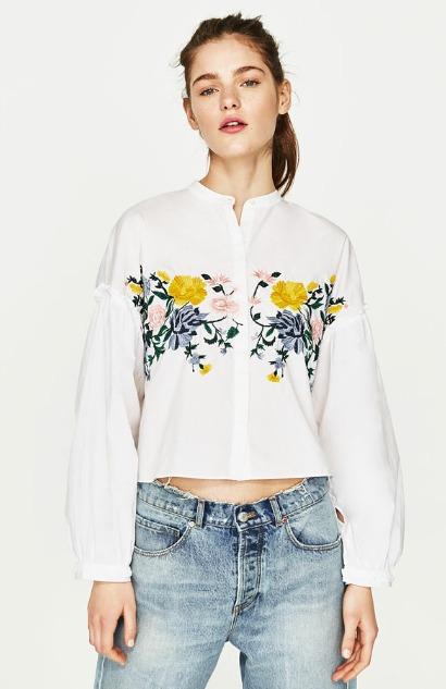 En Mujer Mercado Zara 1 Espana Libre Camisa Bordada 00 850 f0qa5w