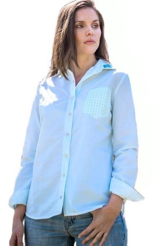 camisa zoe, manga larga , sustentable reinventando