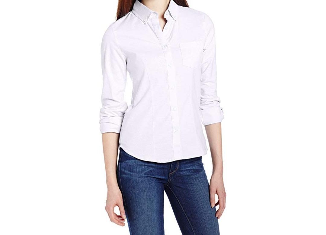 762283cbf22c Camisa/blusa Blanca Vestir Mujer Mca Lee Manga Larga Stretch