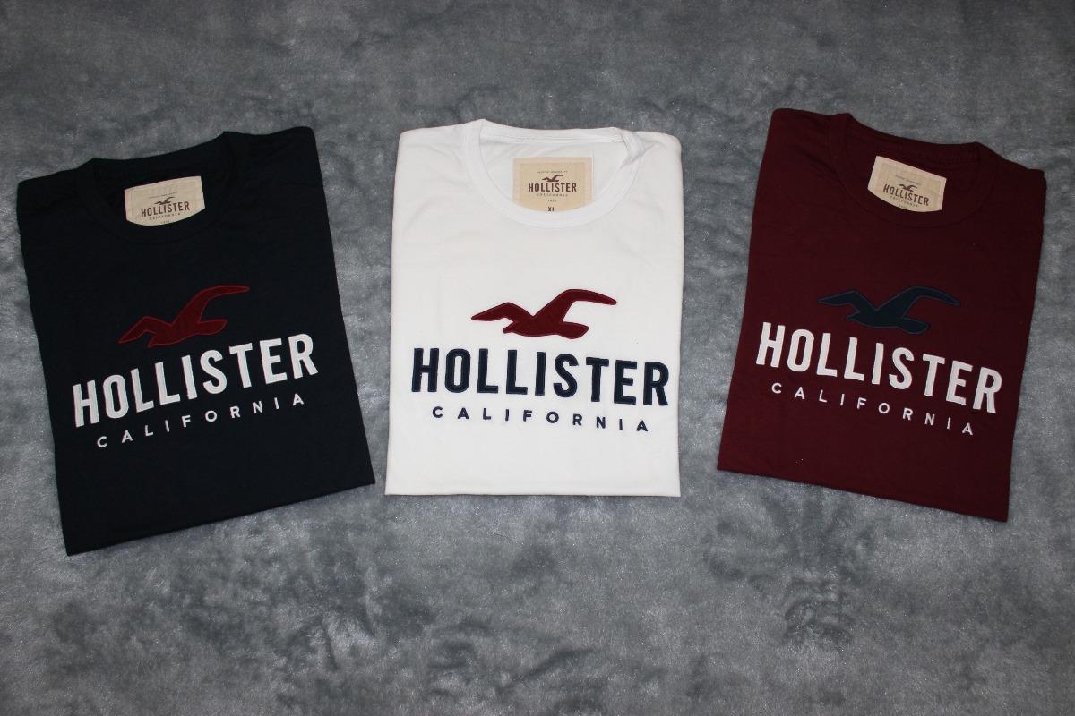 d27fd9d754 Camisa blusa t-shirt Hollister Gg Original Eua Masculina - R  143
