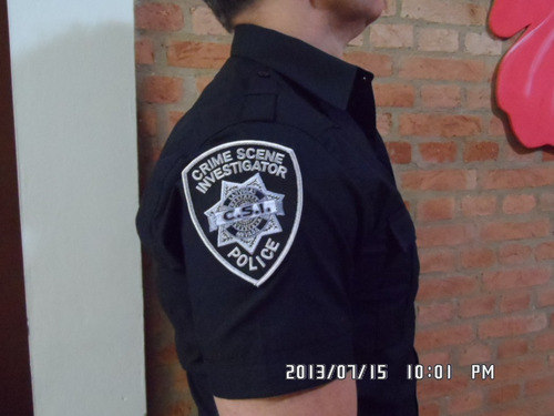 camisa/camiseta csi (crime scene investigation)