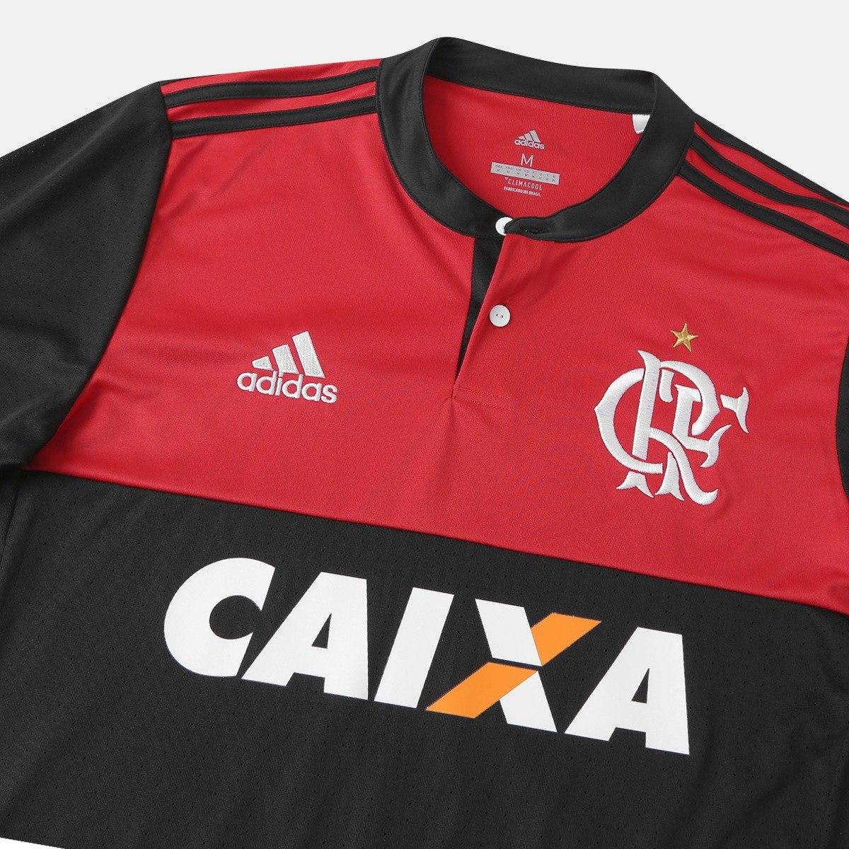 ba6ea302f60 Camisa camiseta Flamengo I 17 18 S n° - Torcedor adidas - R  125