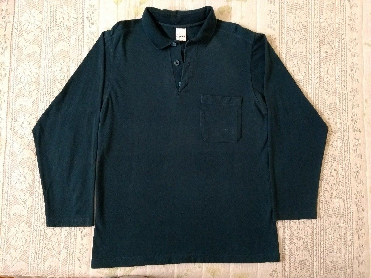 camisa camiseta polo manga longa- azul- masculino- malwee. Carregando zoom. 6aa0dbd7e39ed