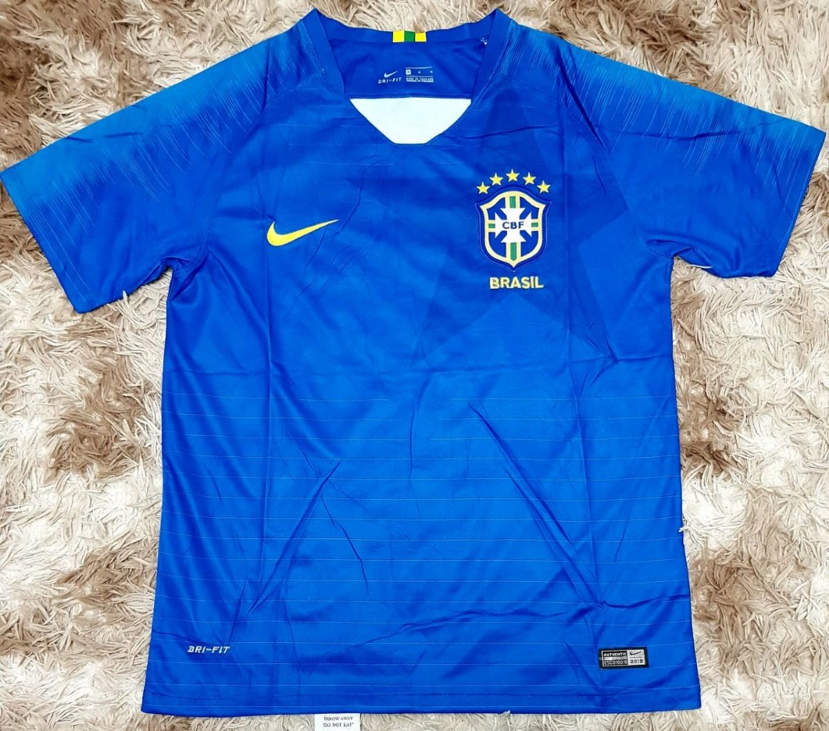 Camisa camiseta Seleção Brasileira Fc Nike 2018 Envio Em 24h - R ... a6a27327339a7