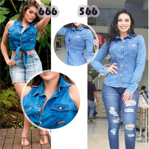 camisa/cropped sol jeans com lycra vários modelos