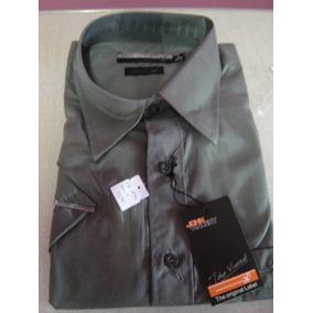 c1286a3eb0050 Camisa Social Masculina Tamanho 2 Tricoline
