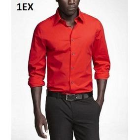 4150ba07c1fa4 M - Camisa Express Roja C1ex Ropa Hombre 100% Original
