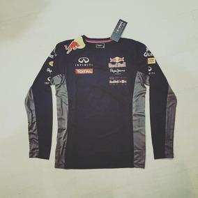670a2356e4d21 Camisa Red Bull Racing Manga Longa no Mercado Livre Brasil