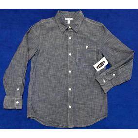 50f6686800241 Camisa Old Navy Nueva Para Niño Manga Larga Tipo Mezclilla