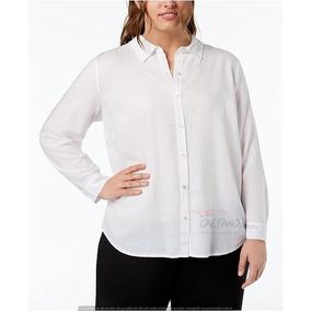 1b6b1b7422f35 Camisa Mujer Gasa Fibrana Blanca - Ropa y Accesorios en Mercado ...